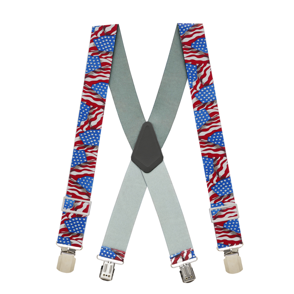 Old Glory Heavy Duty Non-Stretch Work Suspenders - Full View