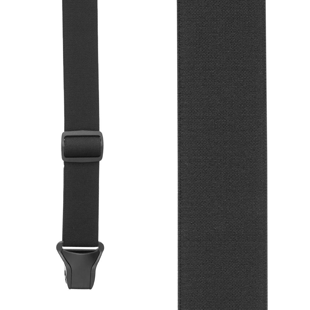Buzz Not Undergarment Suspenders  in Black - Front View