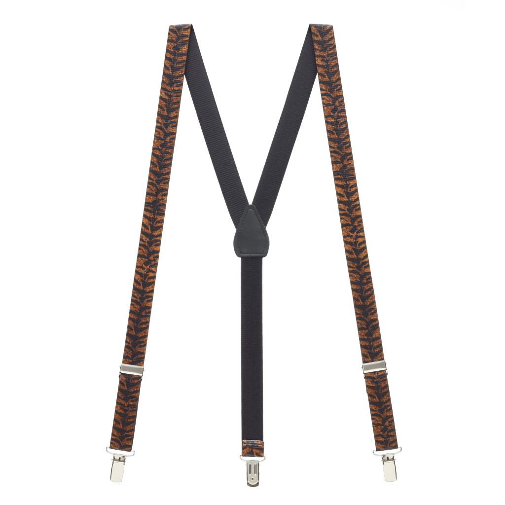 Tiger Print Suspenders - Full View