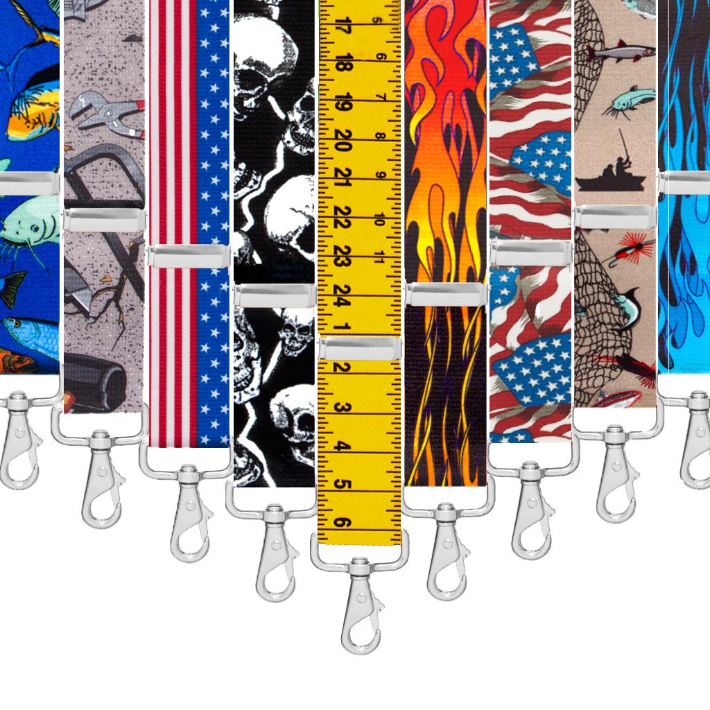 Big & Tall Trigger Snap Suspenders - Variety of Patterns