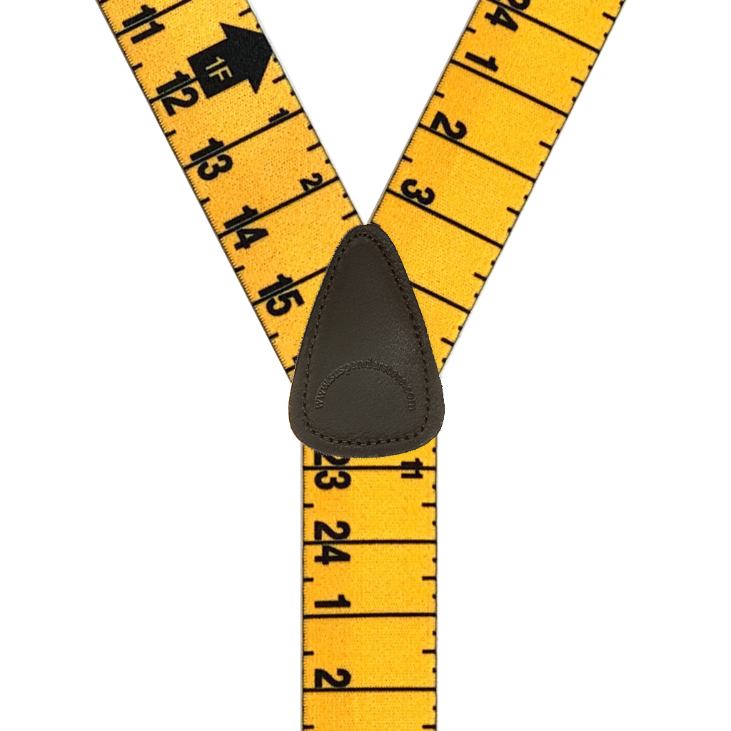 TAPE 1.5-Inch Wide Trigger Snap Suspenders - Rear View