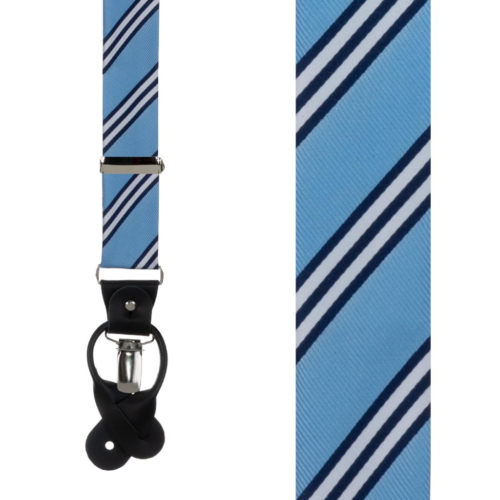 Oxford Kent Multi Stripe Suspenders in Copenhagen - Front View