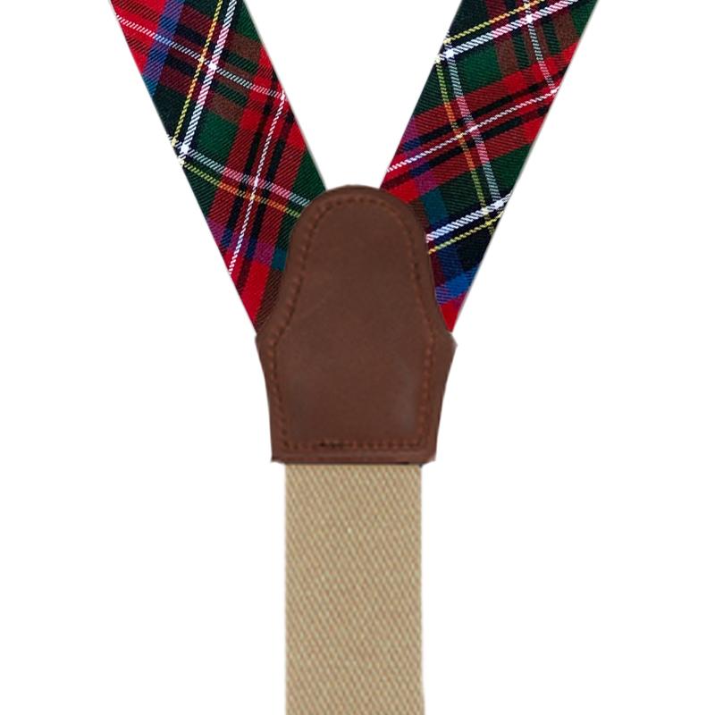 Button Suspenders in Royal Stewart - Rear View