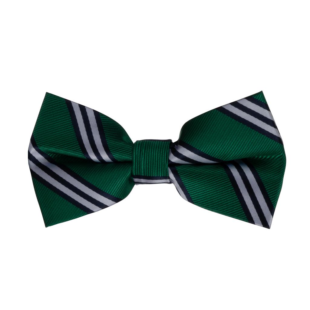 Bow Tie in Kelly & Navy Multi Stripe