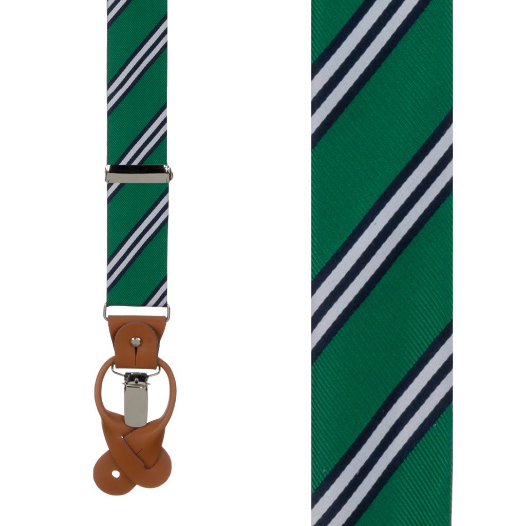 Suspenders in Kelly & Navy Multi Stripe - Front View
