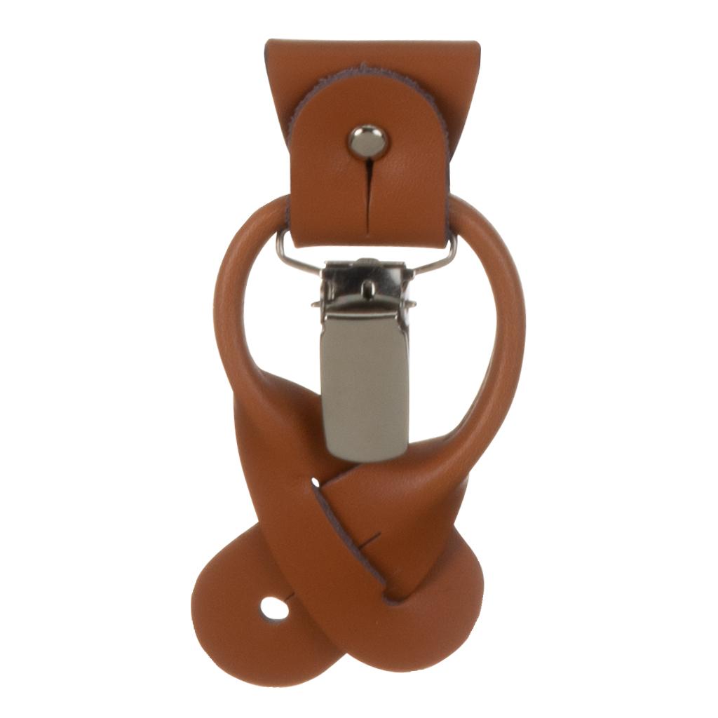Convertible Leather Button/Drop Clip Attachment