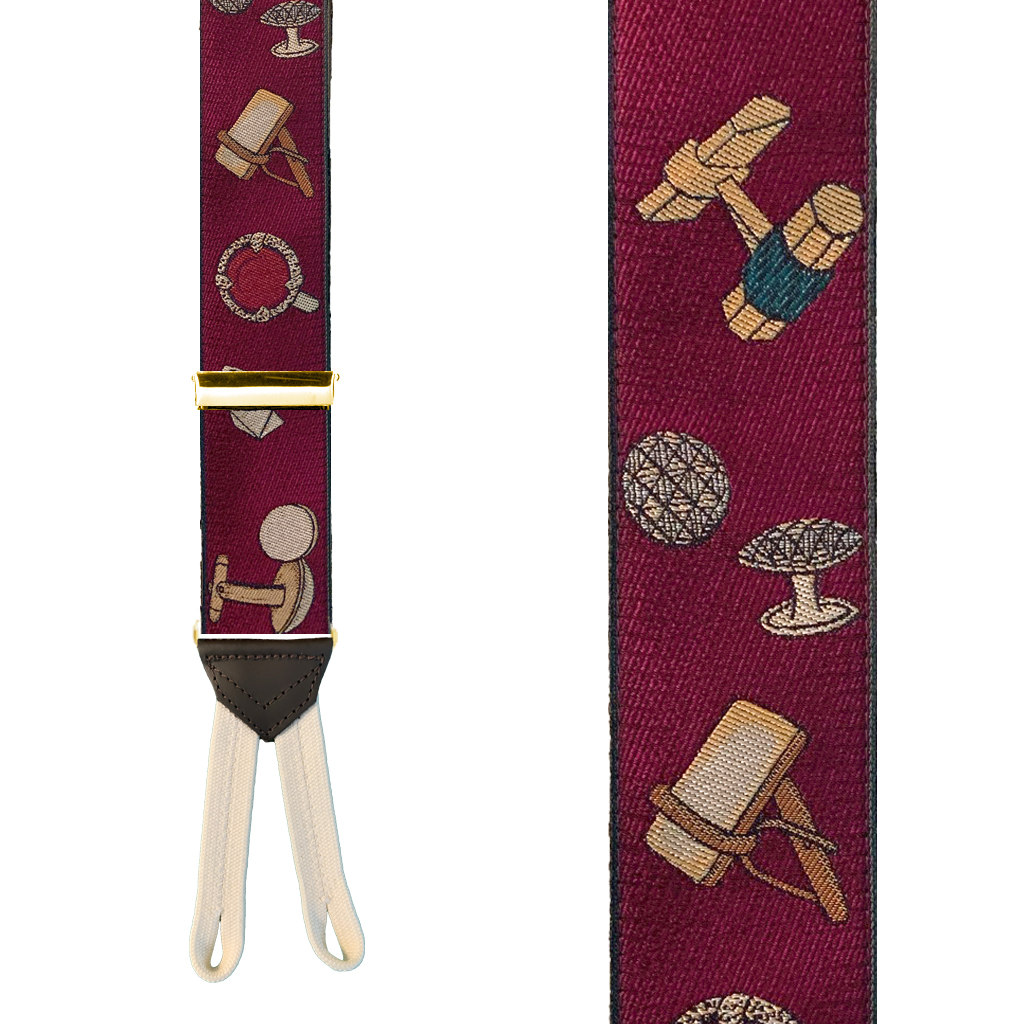 CUFFLINKS Limited Edition Handwoven Silk Braces - Front View