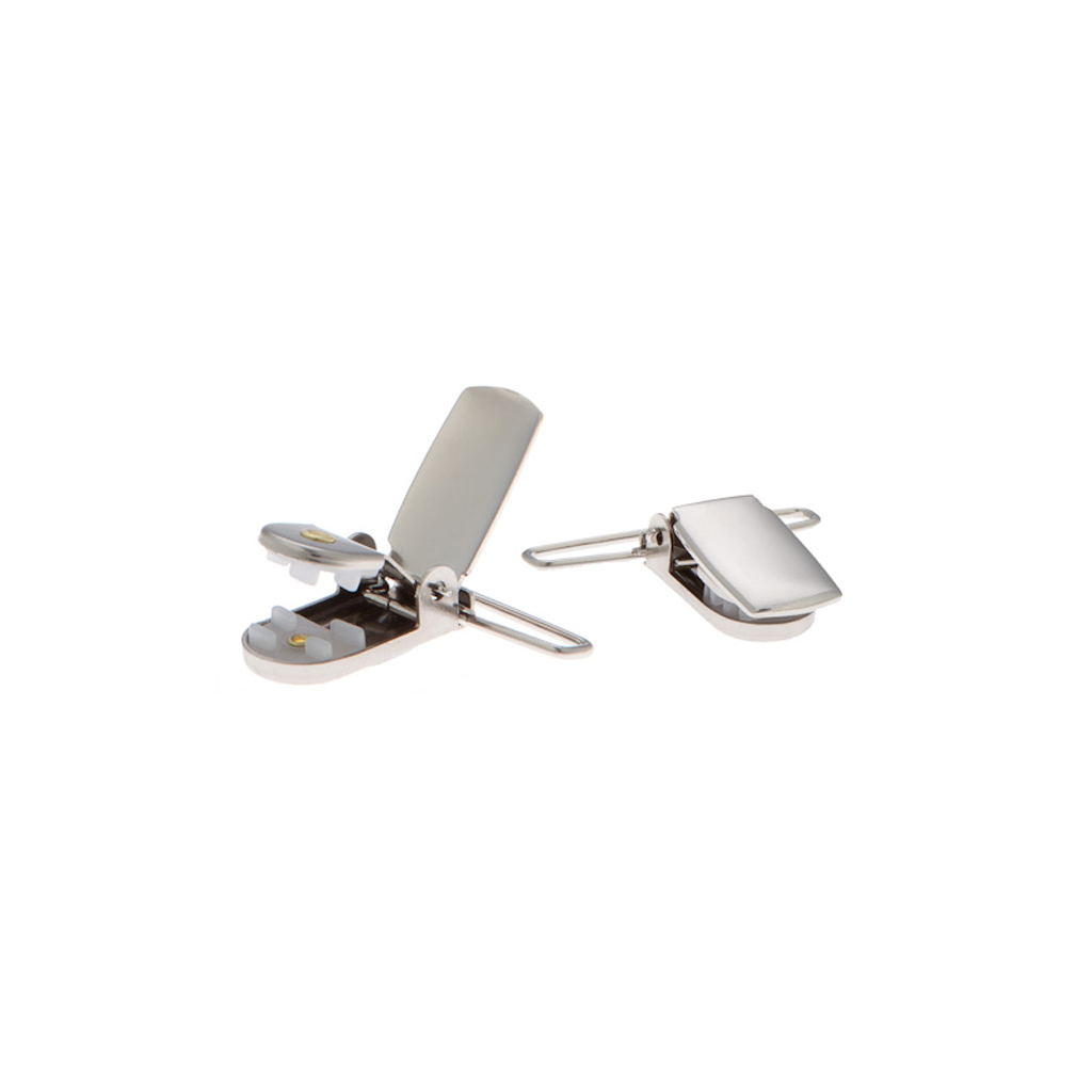 Detailed view of nickel suspender finger clips