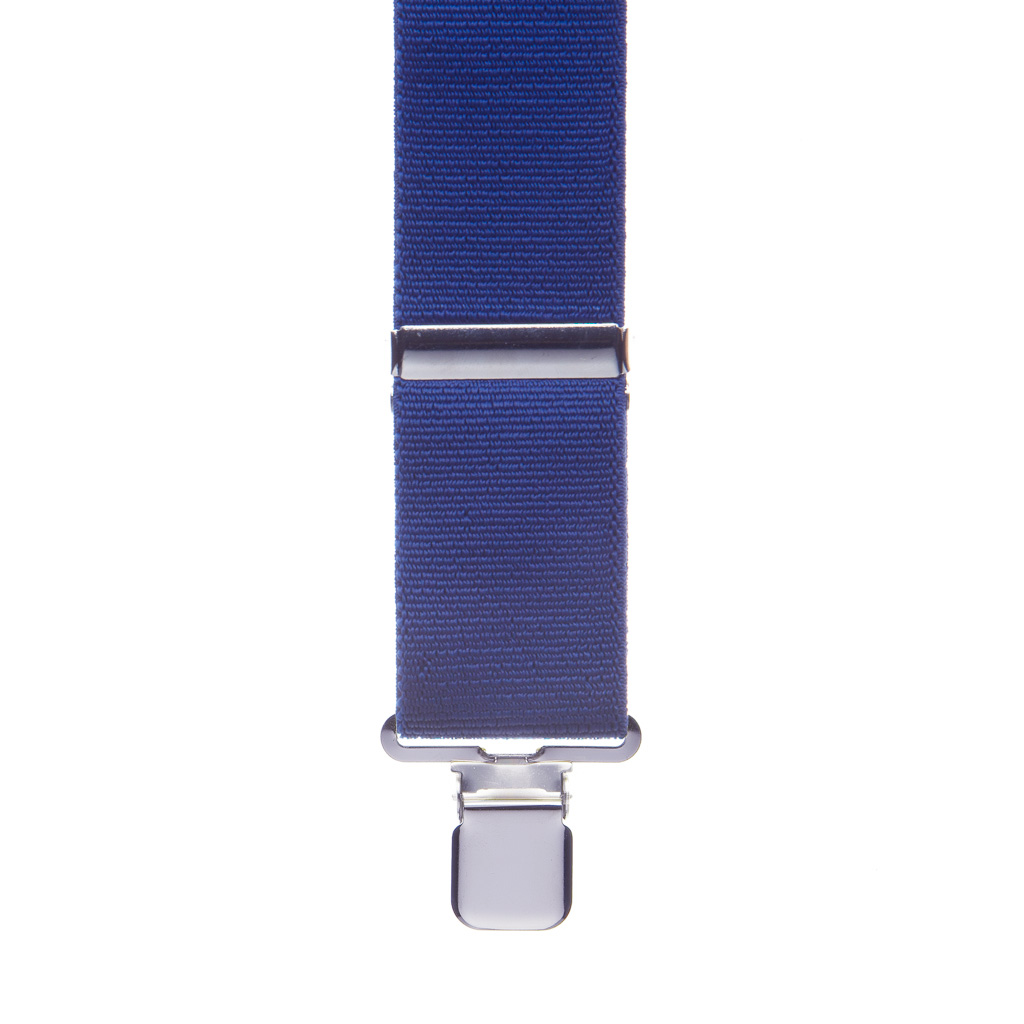 Front view of navy suspender
