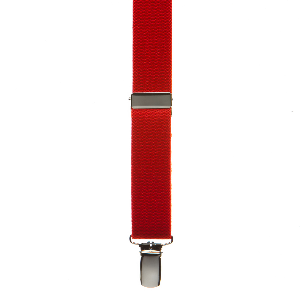 Front view of red suspender