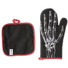 Anatomical Skull and Skeleton Hand Oven Mitt Set Kitchen Pot Holders