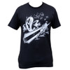 Watery Grave by Shawn Dickinson Men's Black Tee Shirt SoCal Cartoon Surfing Ghost