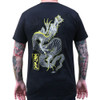 Rise Above by Clark North Japanese Dragon Men's Black Tee Shirt