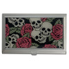 Skull and Roses ID Holder Business Card Case