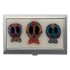 Trio of Sugar Skulls ID Holder Business Card Case