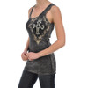 Vocal Apparel Cross and Crown Tank Top side view