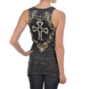 Vocal Apparel Cross and Crown Tank Top back view