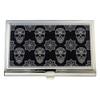 Black and White Sugar Skulls Business Card Case