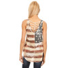 American Flag Tank Top back view