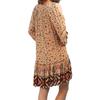 Women's Nala boho mini dress backside view.