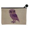 Purple Owl Small Cosmetic Bag