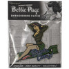 Bettie Page Bombs Away Patch packaged view