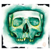 Christina Ramos Green Skull Canvas Art Print