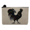 Tribal Rooster Small Makeup Cosmetic Bag