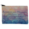 Rainbows and Mermaids Small Linen Makeup Bag