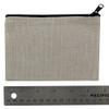 Small Linen Makeup Bag ruler view