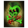 2 Cents The Past Was So Simple Punk Rock Skull Canvas Art Print