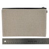 Linen Cosmetic Bag Pouch ruler view