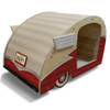 Wood Retro Shasta Trailer Pet Bed right back view