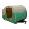 Wood Retro Shasta Trailer Pet Bed Seafoam Green
