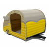 Wood Retro Shasta Trailer Pet Bed Lemon Yellow