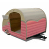 Wood Retro Shasta Trailer Pet Bed Bubble Gum Pink
