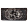 Sugar Skull Leatherette Wallet back view
