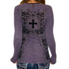 Vocal Apparel Purple Long Sleeve Top back view