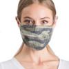 Reusable Camo Ribbed Face Mask