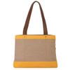 Goldenrod Rowen Canvas Handbag Purse back view