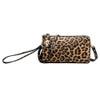 Leopard Wristlet Wallet Crossbody Purse