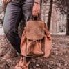 Mona B Dreamweaver Canvas Backpack Purse model view