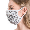 Light Gray Leopard Animal Print Face Mask side view