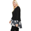Plus Size Long Sleeve Tunic with Skull Print side view