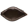 Black Leather Cosmetic Make Up Bag Pouch inside view
