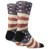 USA Flag Men's Crew Socks back view