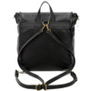 Vegan Leather Carolina Black Backpack Purse back view