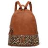 Leopard Print Two Tone Backpack Purse