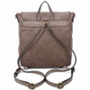 Vegan Leather Taupe Backpack Purse back view