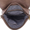 Vegan Leather Taupe Backpack Purse inside view